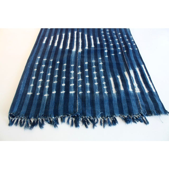 Vintage African Indigo Textile Throw - Image 3 of 5