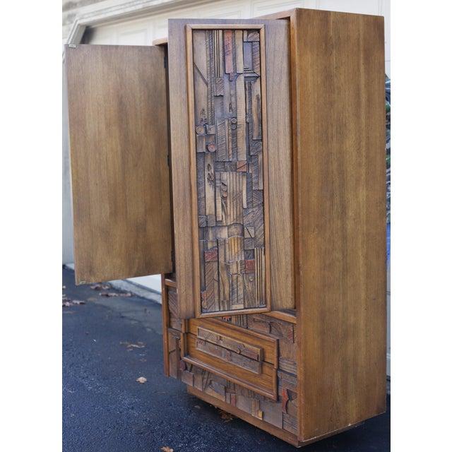 "Lane ""Pueblo"" Brutalist Armoire/Dresser - Image 4 of 10"