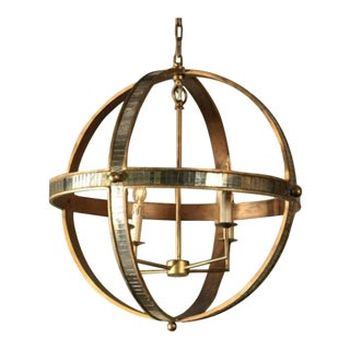 Mr Brown Warm Brass Galaxy Chandelier For Sale