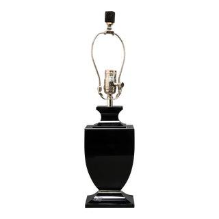 Robert Abbey Modern Black Glass Table Lamp For Sale