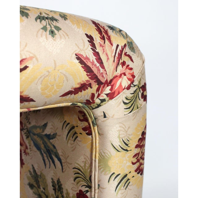 "Scalamandre Scalamandre's ""Duchessa"" Satin Upholstered Waterfall Vanity Stool For Sale - Image 4 of 6"