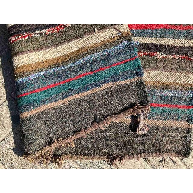 Vintage Striped Turkish Kilim Rug For Sale - Image 9 of 10