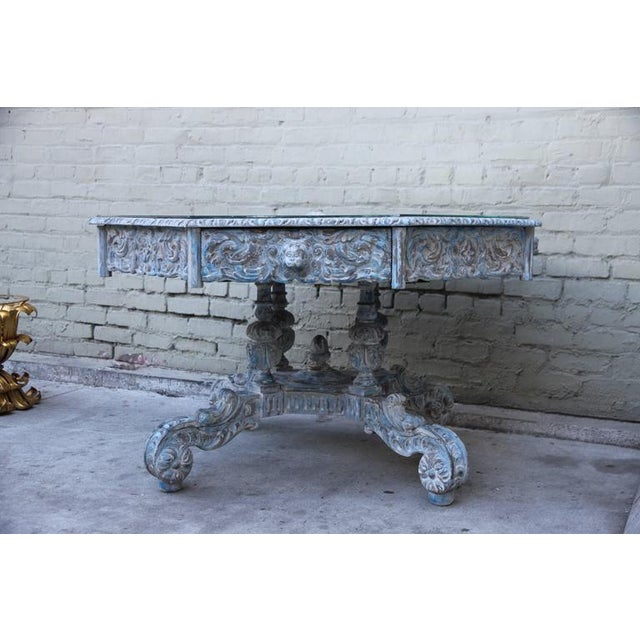 French Provincial Octagonal Painted Center Dining Table - Image 7 of 8