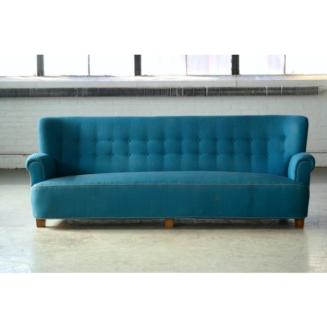 Danish Midcentury Boesen Style Large Four-Seat Danish Sofa, 1940s For Sale - Image 11 of 11