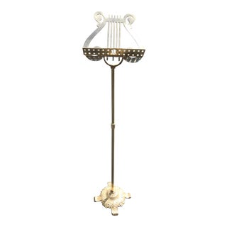 Vintage Brass Lyre Music Stand For Sale