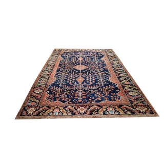 "Antique Persian Sarouk Fereghan Handmade Knotted Rug - 6′9″ × 10′6"" - Size Cat. 7x10 8x10"