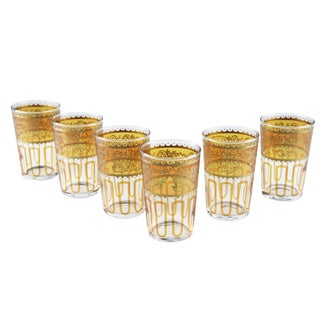 Essaouira Orange Tea Glasses - Set of 6 For Sale