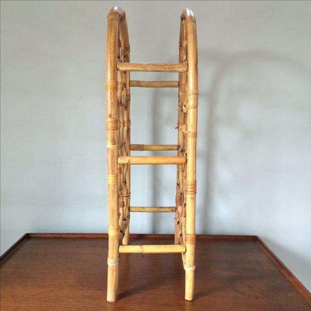 Vintage Bamboo Wine Rack - Image 5 of 11