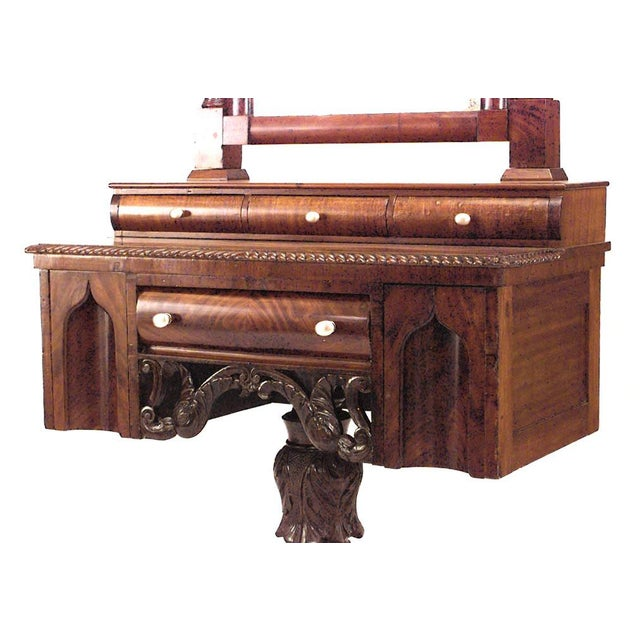 American American Empire Gothic Mahogany Dressing Table For Sale - Image 3 of 7