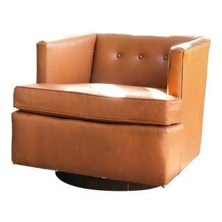 Vintage Mid Century Modern Edward Wormley for Dunbar Swivel Club Chair For Sale