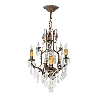 Antique French Baccarat Chandelier For Sale