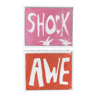"""Shock and Awe,"" Acrylic On Canvas - a Pair"