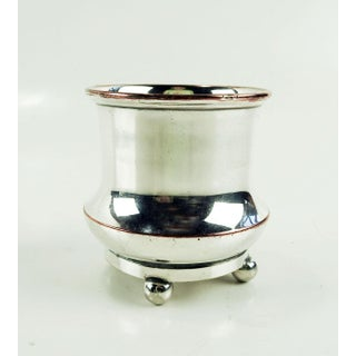 Silver Plate Holder or Cup Engraved With Price of Wales Badge Preview
