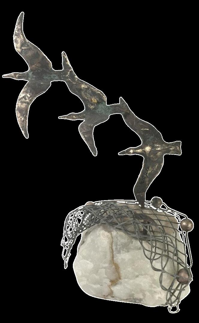 Seagulls On Quartz By Curtis Jeré