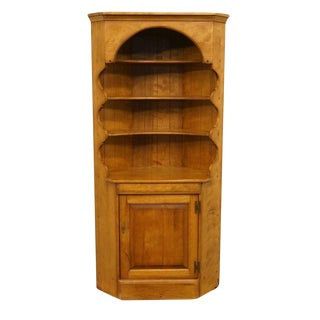20th Century British Colonial Cushman Colonial Hard Rock Maple Corner Bookcase