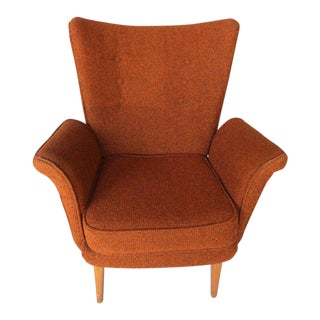 Mid-Century Modern High Back Armchair