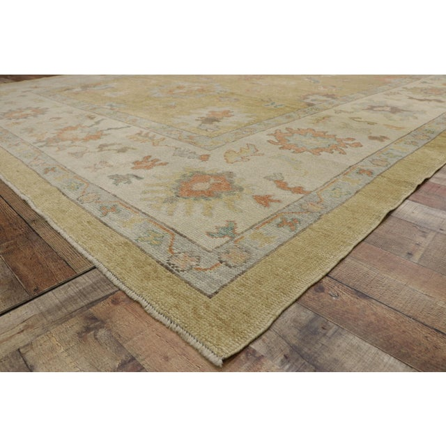 Contemporary Turkish Oushak Rug - 10′2″ × 13′2″ For Sale In Dallas - Image 6 of 10
