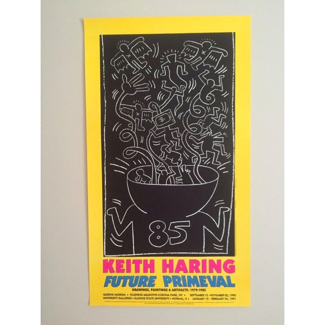 "Abstract Keith Haring ""Future Primeval"" Original Offset Lithograph For Sale - Image 3 of 10"