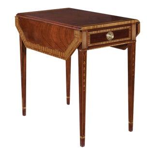 Councill Inlaid Pembroke Side Table For Sale