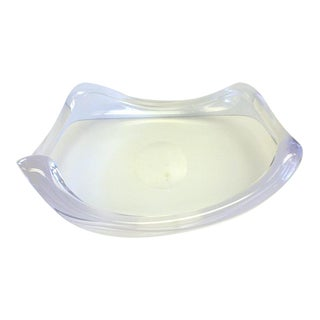 Mid-Century Modern Hollywood Regency Astrolite Lucite Elliptical Lucite Bowl by Ritts Co For Sale
