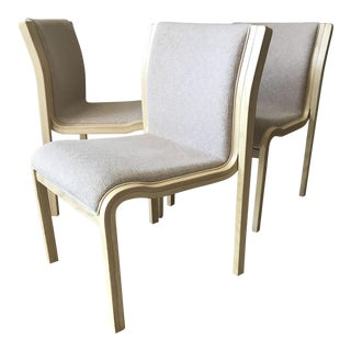 Swedish Dining Chairs Molded Bentwood Birch by Stendig s/3 For Sale