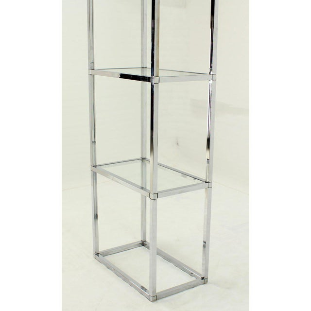 Excellent Narrow and Tall Mid-Century Modern Chrome and ...