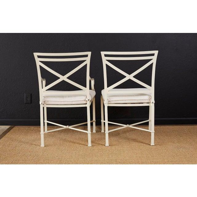 Set of Six Brown Jordan Aluminium Patio Garden Chairs For Sale - Image 12 of 13