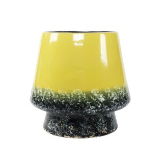 Extra Large Yellow Mid-Century Modern Ceramic Planter For Sale