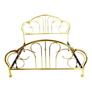 Vintage King Size Brass Bed