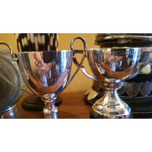 Silver Plated Sport Trophies - Set of 3 - Image 4 of 4