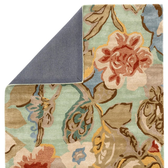 Contemporary Jaipur Living Petal Pusher Handmade Floral Green Multicolor Area Rug 2'X3' For Sale - Image 3 of 10