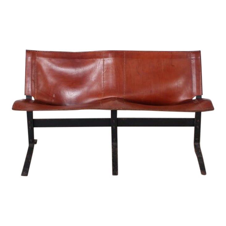 Distinguished Leather Bench By Max Gottschalk Decaso