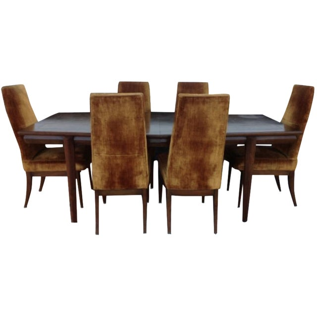 Monteverdi Young Burl Walnut Dining Set - Set of 7 - Image 1 of 8