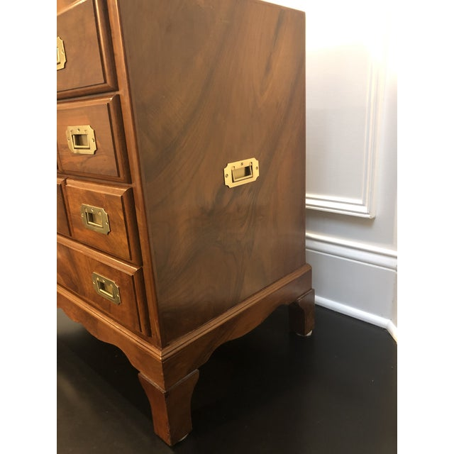 Wood Italian Campaign Style Chest of Drawers For Sale - Image 7 of 12