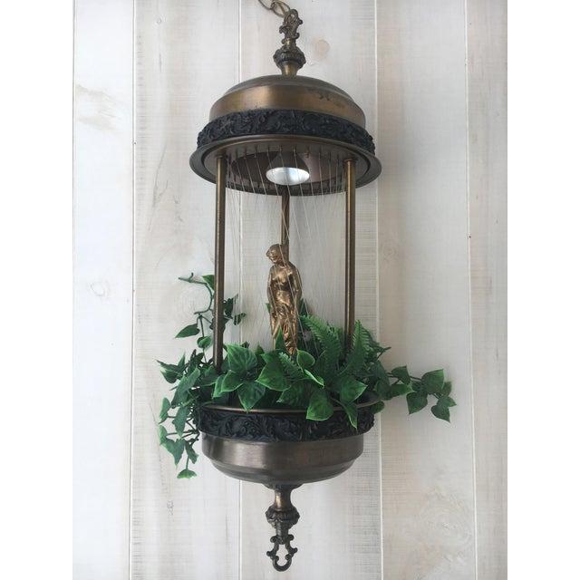 Vintage Golden Woman or Goddess Rain Lamp For Sale - Image 13 of 13