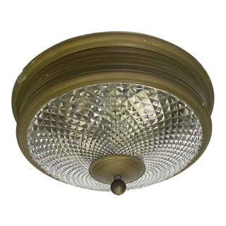 Waldorf Astoria Caldwell Crystal & Bronze Flush Mount Light For Sale