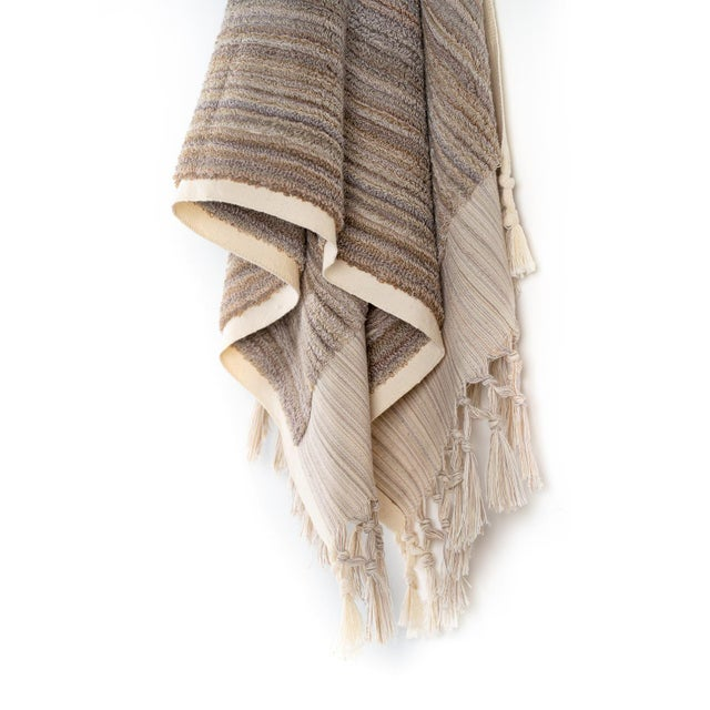Inspired by modern simplicity, this luxury hand-loomed towel subtly shows off an age-old complex Turkish towel weaving...