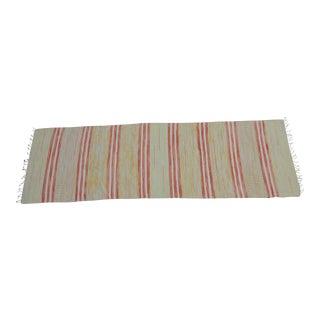 "Swedish Vintage Handwoven Rag Rug -- 2"" x 6""4'"