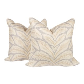 Brunschwig & Fils Talavera Linen Pillows, a Pair For Sale