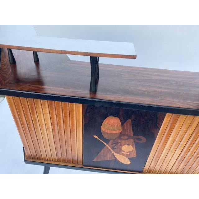 Late 1950's Mid Century Inlaid Bar For Sale - Image 9 of 11