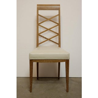 Set of Six Cerused Oak Chairs in the Manner of Jacques Adnet Preview
