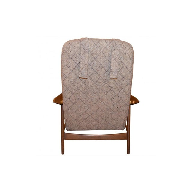 Folke Ohlsson Mid-Century Chair & Ottoman For Sale - Image 5 of 7