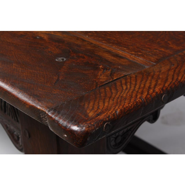 19th Century Antique French Oak Church Refectory Table For Sale In Nashville - Image 6 of 8