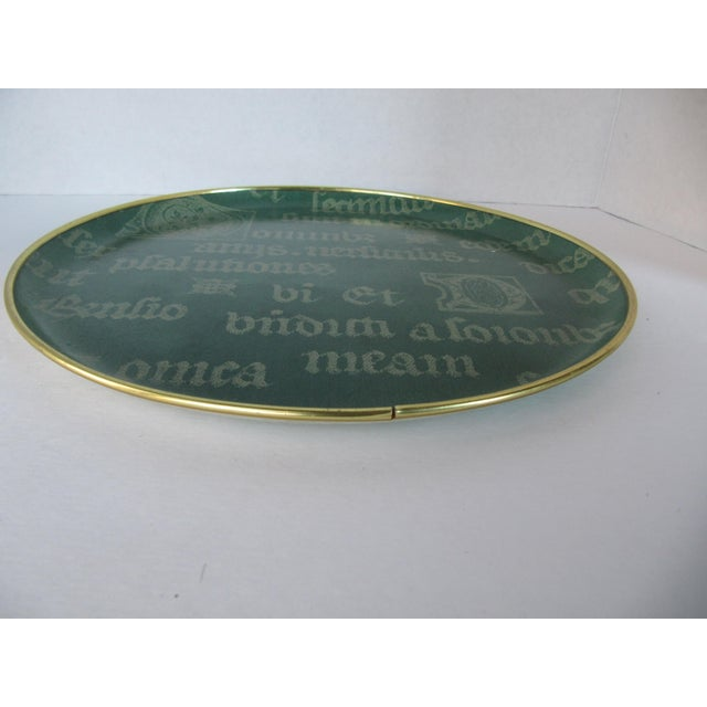 Vintage Decorative Script Tray For Sale - Image 6 of 7