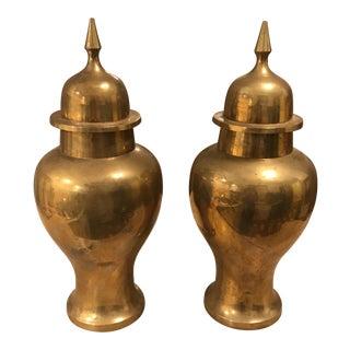 Vintage Brass Urn - a Pair