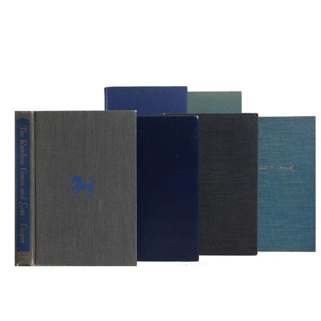 Mid-Century Sapphire Blue Books - Set of 35 - Image 2 of 2