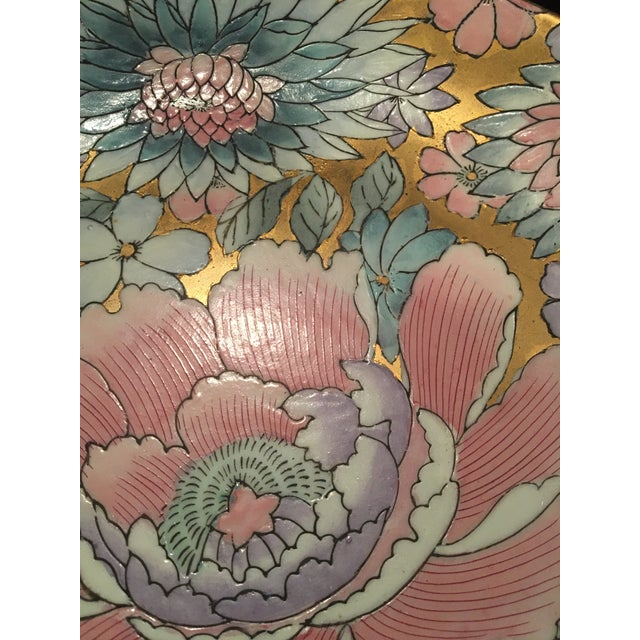 Mid 20th Century Chinoiserie Plate in Golds & Pinks For Sale - Image 5 of 9