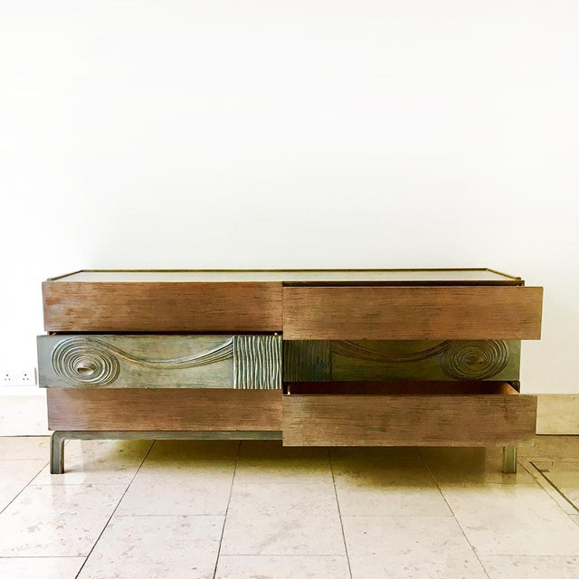 Mid-Century Modern Swedish Six Drawer Walnut Cabinet by Edmond Spence 1950s For Sale - Image 3 of 7