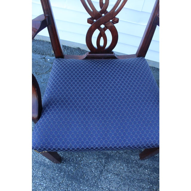 Vintage Mid Century Blue Dining Chairs- Set of 6 For Sale - Image 9 of 11