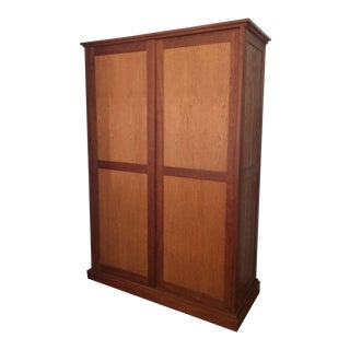 Custom Danish Style Wooden Armoire For Sale